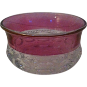 SALE Kings' Crown Cranberry Flash Fruit / Dessert Bowl