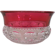 SALE Ruby Flash Kings' Crown Fruit / Dessert Bowl