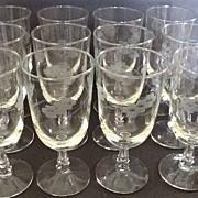 SALE Libbey Rock Sharpe Brookdale Ice Tea Goblets set of 12