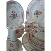 SALE 64 piece Mikasa Chershire 8 Place Setting plus Serving Pieces