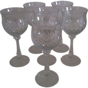 SALE 6 Mikasa Chateau Tall Water Goblets #40063