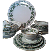 90 Piece Noritake Madera #5106 China Set With Serving Pieces