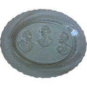 SALE Eapg The Remembrance Presidents Historical  Bread Platter 1881