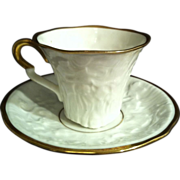 SALE Royal Stafford Old English Oak Demitasse Cup & Saucer