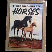 SOLD 8  Savitt Thoroughbred Horses - Penn Prints