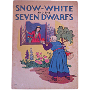 "Vintage 1937 ""Snow White And The Seven Dwarfs"" - Whitman Publishing Company"