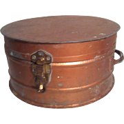 Vintage Tin Hat Box