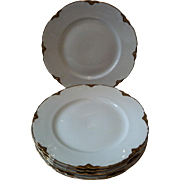 6 Warwick Chateau Luncheon Plates -# 2100/1202