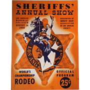 1949 World Champion Rodeo Program • John Wayne Grand Marshal •