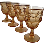 SALE Westmoreland Ashburton Golden Sunset Water Goblets set of 4