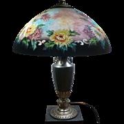 SOLD Classique crysanthemum lamp