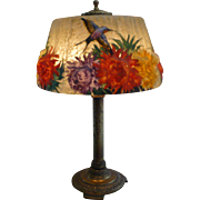 Pairpoint Crysanthemum & Hummingbird lamp