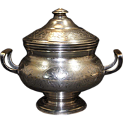 Russian Silver 84 Standard Silver Tea Caddy/Sugar Bowls/Casket circa 1893