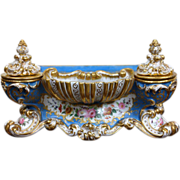 Antique French Jacob Petit Painted Porcelain Ink-Well circa 1890s
