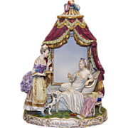 Rare Exquisite Royal Vienna Hand Painted Le Bain 'Bath' Porcelain Figure 1870s