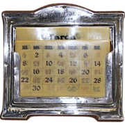 English Arts & Crafts Style Sterling Silver Perpetual Calendar Birmingham 1919