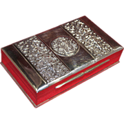 Asian/Thai Sterling Silver Cigar Box/Casket Repousse Plaques Thai Nakon