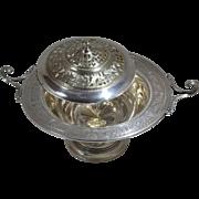 International Sterling Silver Wedgwood Design Tureen/Footed Centerpiece Pierced Lid