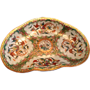 Early 19th Century Famille Rose Mandarin Medallion Serving Dish With Exquisite Birds