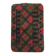 Scottish Tartan ware Bezique Counter