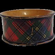 19th Century Scottish Tartanware Napkin Ring, McLean Tartan
