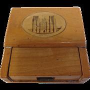 19th Century Scottish Mauchline Ware Pocket Watch Holder, Wells Cathedral
