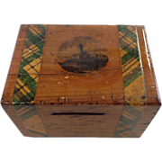 Victorian Scottish Mauchline Ware Money Box, Wallace Monument