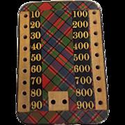 Victorian Scottish Tartan Ware Bezique Counter