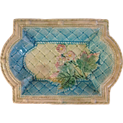 SOLD Beautiful Victorian Majolica Tray