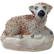 SOLD 19th Century Staffordshire Recumbent Sheep