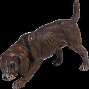 Vintage Cold Painted Hound Dog