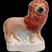 Wonderful Miniature Victorian Staffordshire Lion, Circa 1850-60