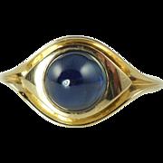 Vintage 3.0ct Natural Blue Sapphire & 14kt Gold Ring