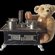 Antique German Child Toy Stove Doll Marklin Kitchen Museum