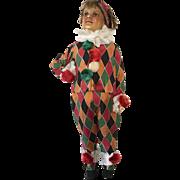 1930/40's French Child's Clowns Costume Pierrot Harlequin