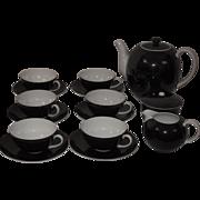 Black & White Deco Tea Set, Svc. for 6