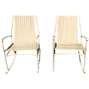 Pair of Mid Century faux bamboo rockers