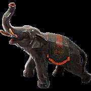 1920's Cast Metal Elephant Sculpture