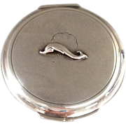 "Georg Jensen Sterling Silver ""Dolphin"" Compact No. 231N"