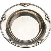 """Georg Jensen Sterling Silver Child's Bowl with """"Acorn"""" Motif No. 632F by Johan Rohde"""