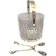 "Georg Jensen Sterling Silver ""Acorn"" Ice Bucket and Tongs by Johan Rohde No. 1137"