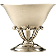 Georg Jensen Sterling Silver Oval Footed Bowl No. 6 by Johan Rohde