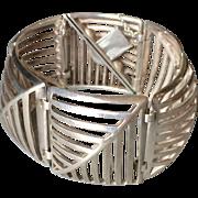 "Georg Jensen Sterling Silver ""Grates"" Bracelet No. 389 by Nanna Ditzel"
