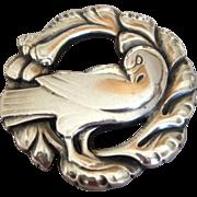 Georg Jensen Sterling Silver Bird Brooch No. 123