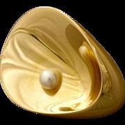 Georg Jensen 18kt Gold Brooch/Pendant by Nanna Ditzel No. 1328
