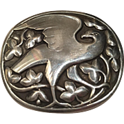 Georg Jensen Sterling Silver Eagle Brooch No. 166