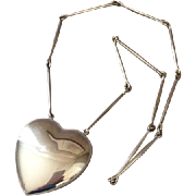 Georg Jensen Sterling Silver Heart Necklace No. 126 by Astrid Fog