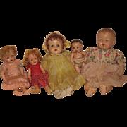 SOLD TLC vintage composition dolls for restoration