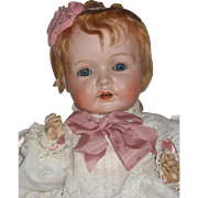 "SOLD Adorable 17"" Bisque head baby! TLC"