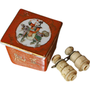 Antique Binoculars and Box for French Fashion Miniature